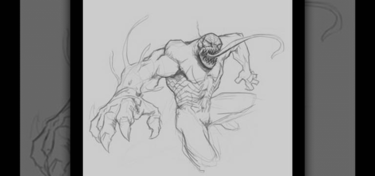 How To Draw Venom From Spiderman Comics Drawing Illustration Wonderhowto