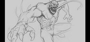 Draw Venom from Spiderman comics