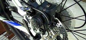 Adjustthe disk brakes on a bicycle