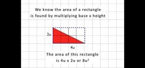 Find the area of a right triangle using simple math