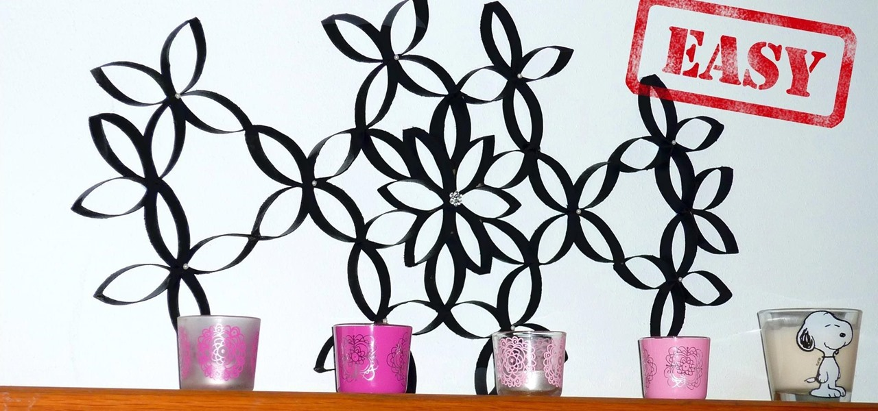 Make a Wall Art with Recycled Toilet Paper Rolls