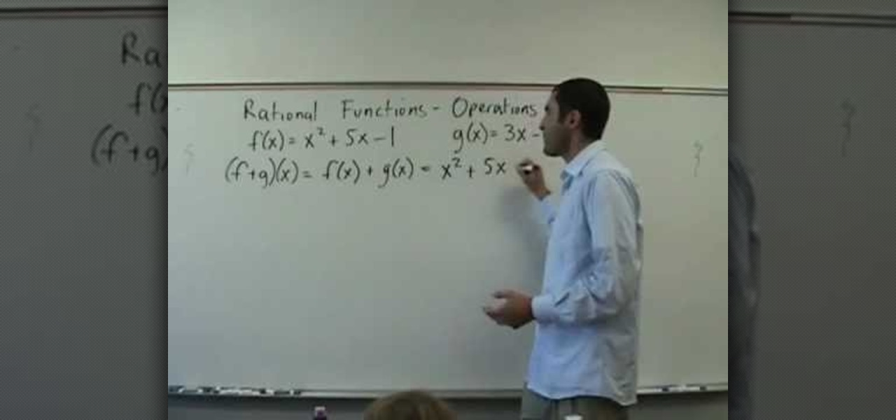 How To Solve Operations On Rational Functions F O Gx Math