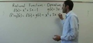 Solve operations on rational  functions (f o g)(x)