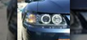 Wire angel eye (halo) headlights in a Mustang
