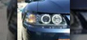 Wire angel eye (halo) headlights in a Mustang
