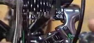 Adjust a rear derailleur using the limit screws