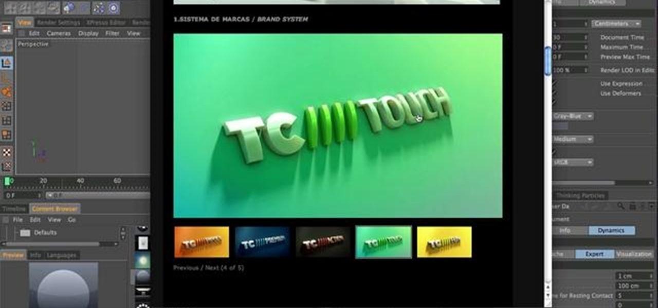 how to create a metallic 3d logo with cinema 4d and photoshop  u00ab cinema 4d    wonderhowto