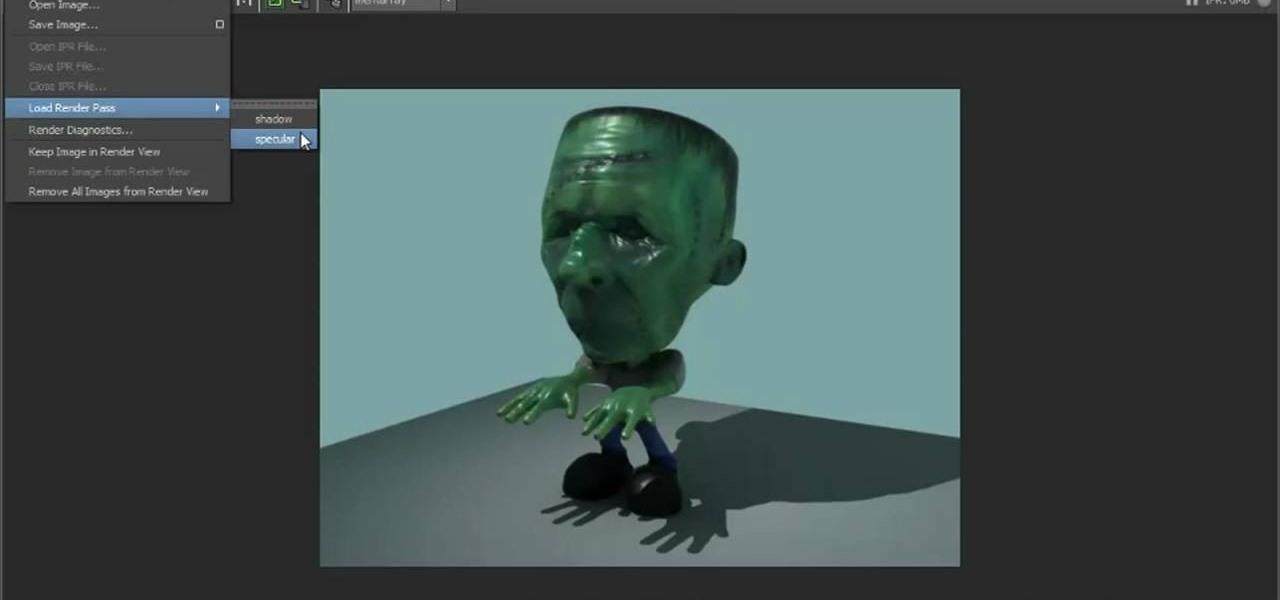 maya 2016 how to create a shadow pass