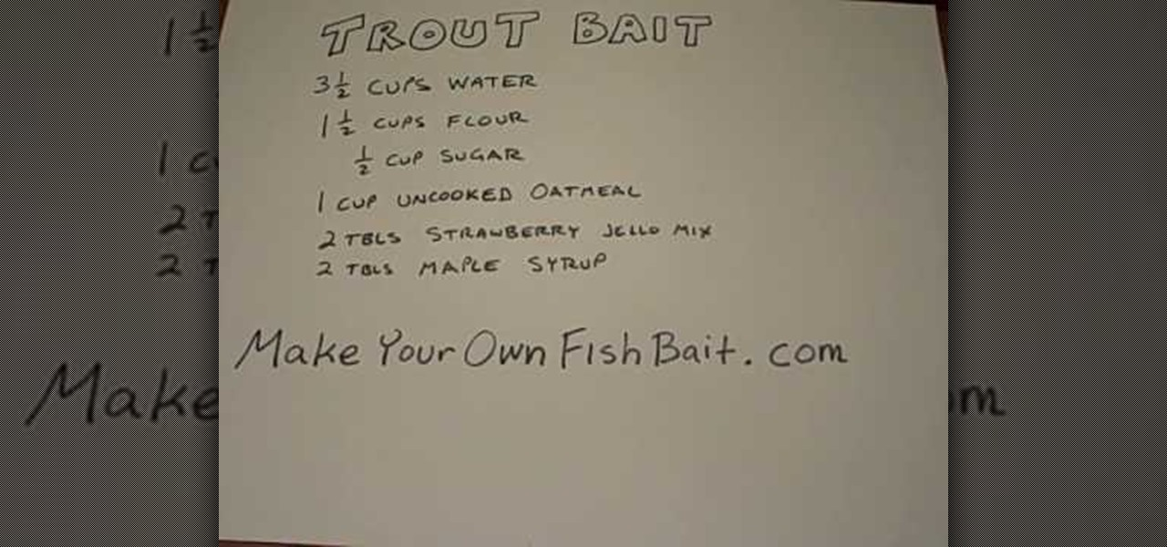 How to make your own homemade trout fish bait fishing for Create your own fish