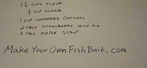 Make your own homemade trout fish bait