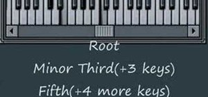 Build minor chords on the piano