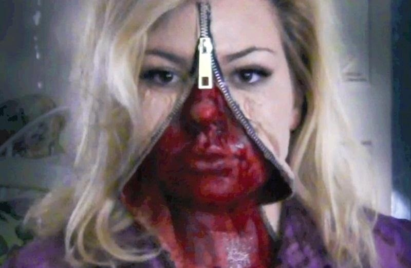 1unzipped face - Make Your Own Halloween Makeup