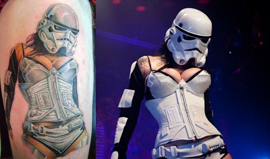 Sexy Stormtrooper Memorialized as Ultimate Star Wars Tattoo (NSFW)