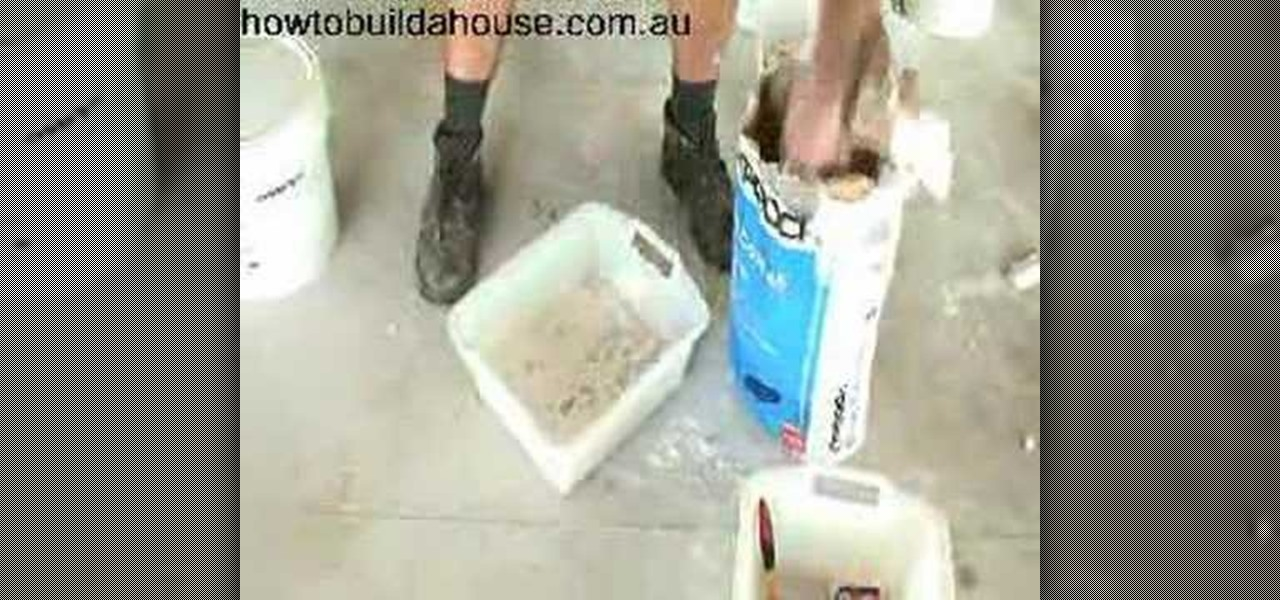 Base Coat Plaster : How to mix up base coat for plastering « construction