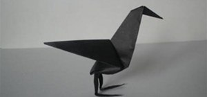 a Raven with Origami