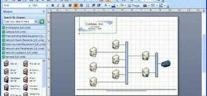 Create a background and watermark in Visio 2007