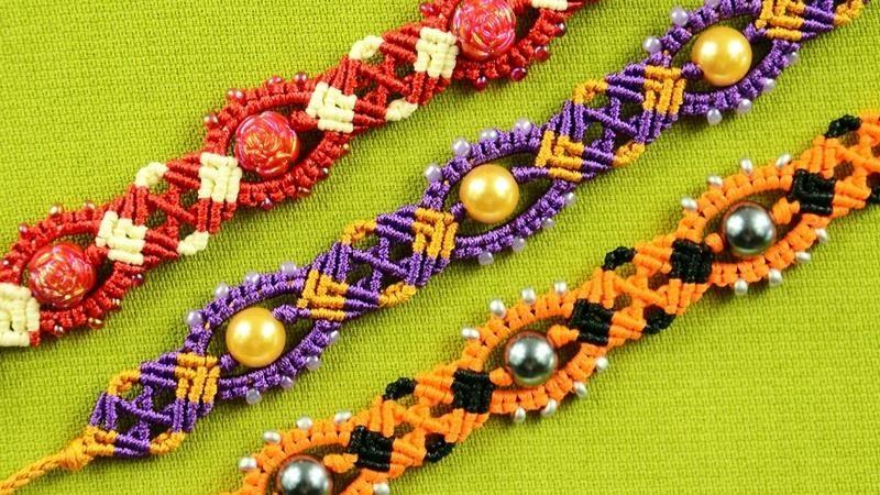 Venetian Macrame Bracelet Tutorial