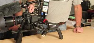 Assemble a DSLR shoulder rig for the Canon 5D Mark II
