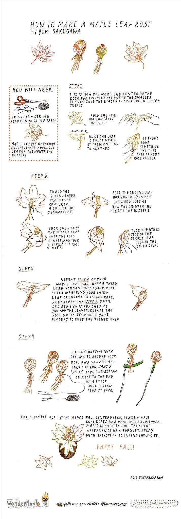 How to Make a Maple Leaf Rose