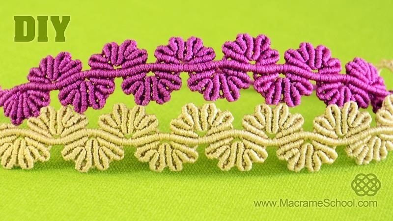 Wavy Flower Lace Bracelet Tutorial