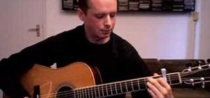 Arrange chords on an acoustic solo fingerstyle guitar