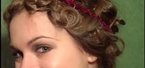 Create a curly '20s flapper bob for long hair