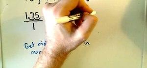 Convert decimals into fractions