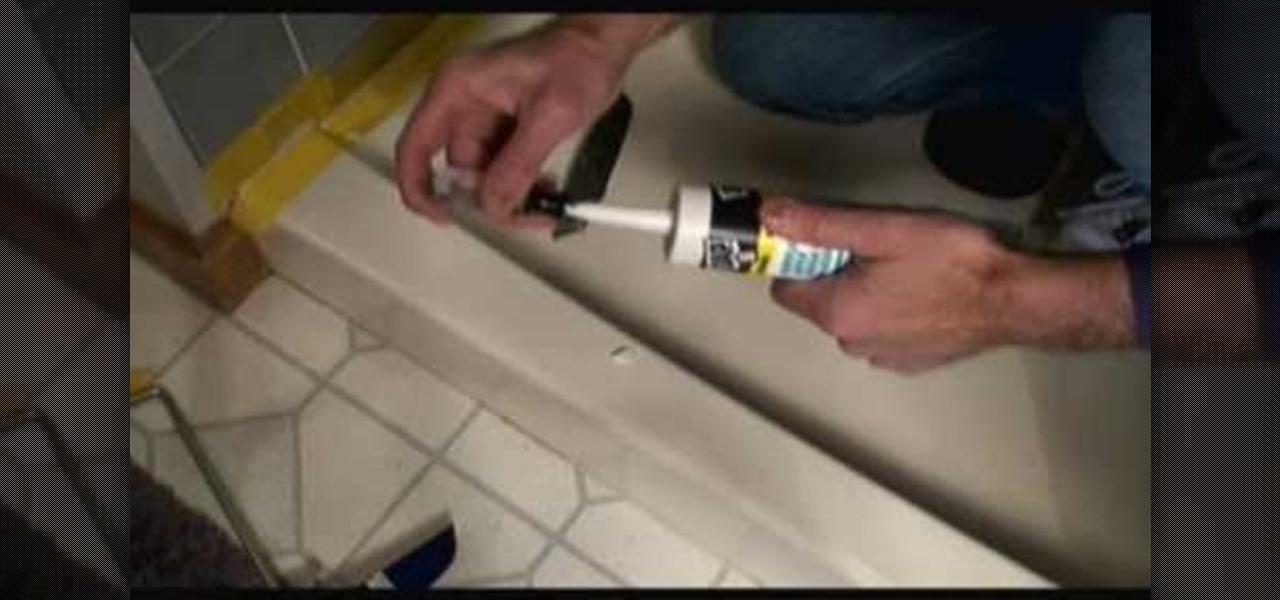 How To Caulk A Shower Stall Construction Repair WonderHowTo - Applying caulk to shower