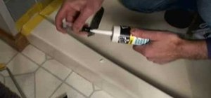 Caulk a shower stall