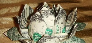 Make an Origami Lotus Flower Out of Dollar Bills