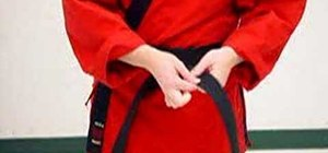 Tie your belt properly in martial arts