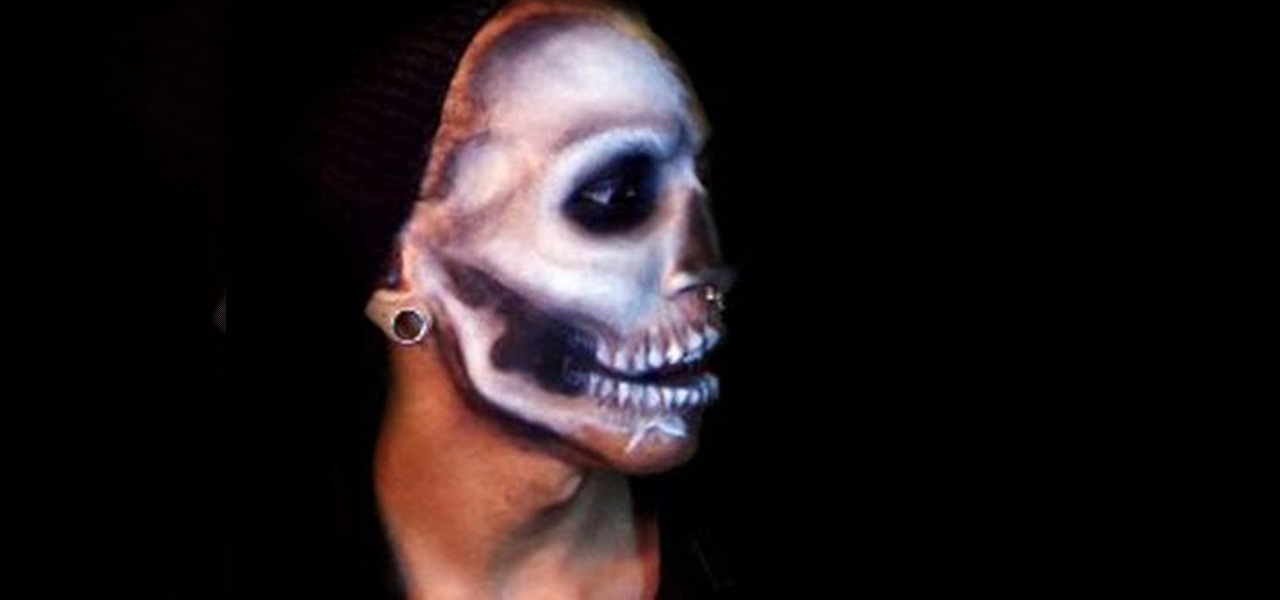 how to create an awesome halloween skull mask with makeup makeup wonderhowto