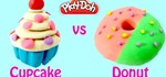 How to Make Play Doh Cupcakes and Playdough Donuts