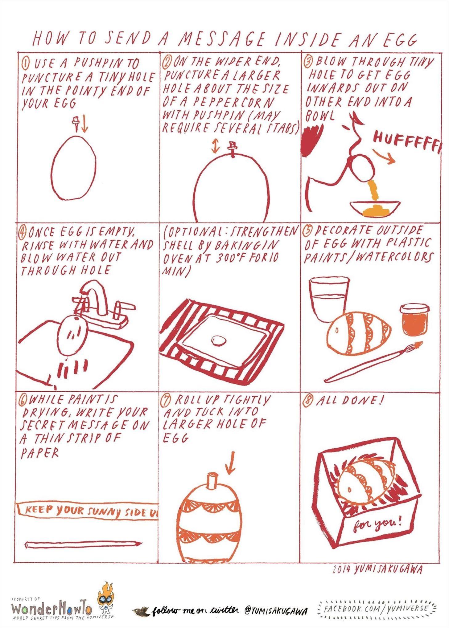 How to Send a Secret Message Inside an Egg