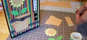 Make a Cricut sunflower card