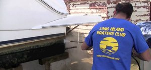 Power wash your boat