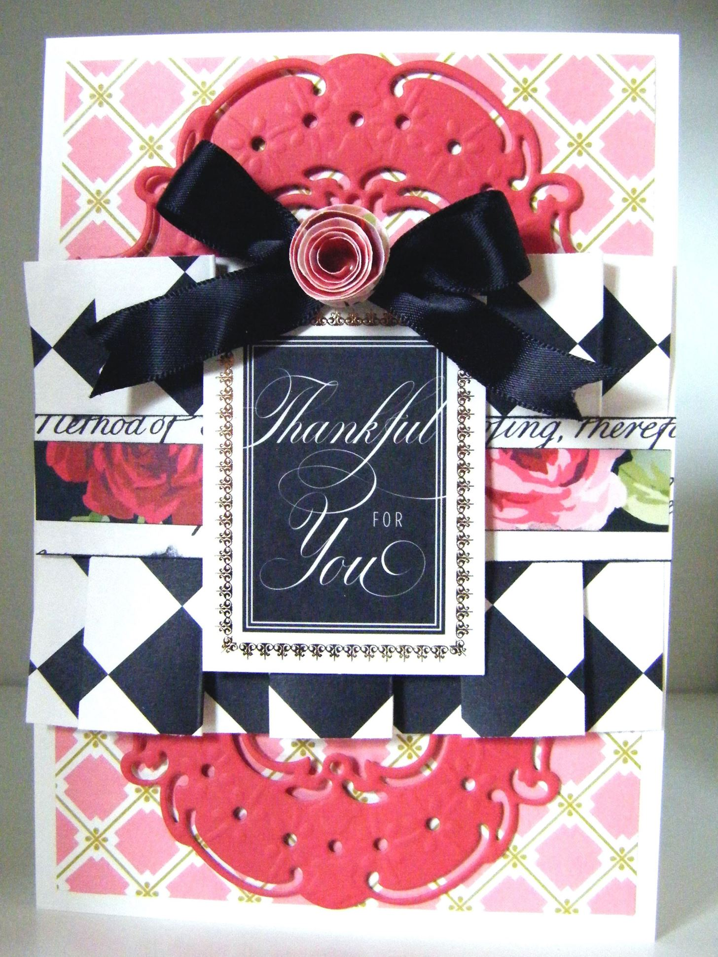 How to Make a Rose Box Pleated Thank You Card