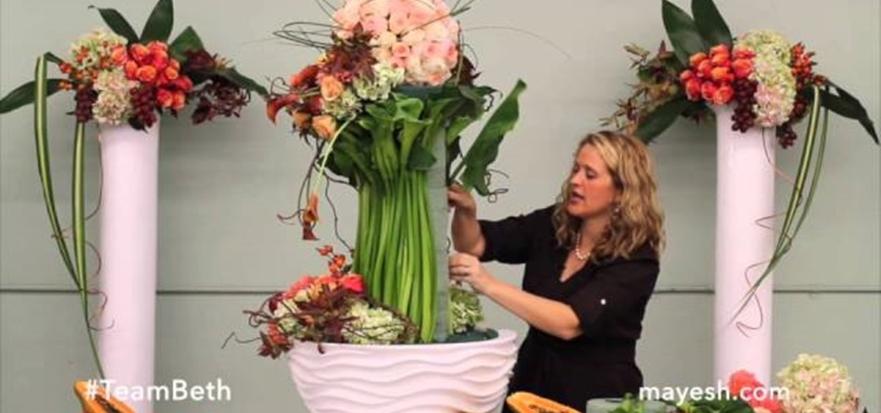 How to create a stunning autumn floral sculpture flower for How to make flower arrangements