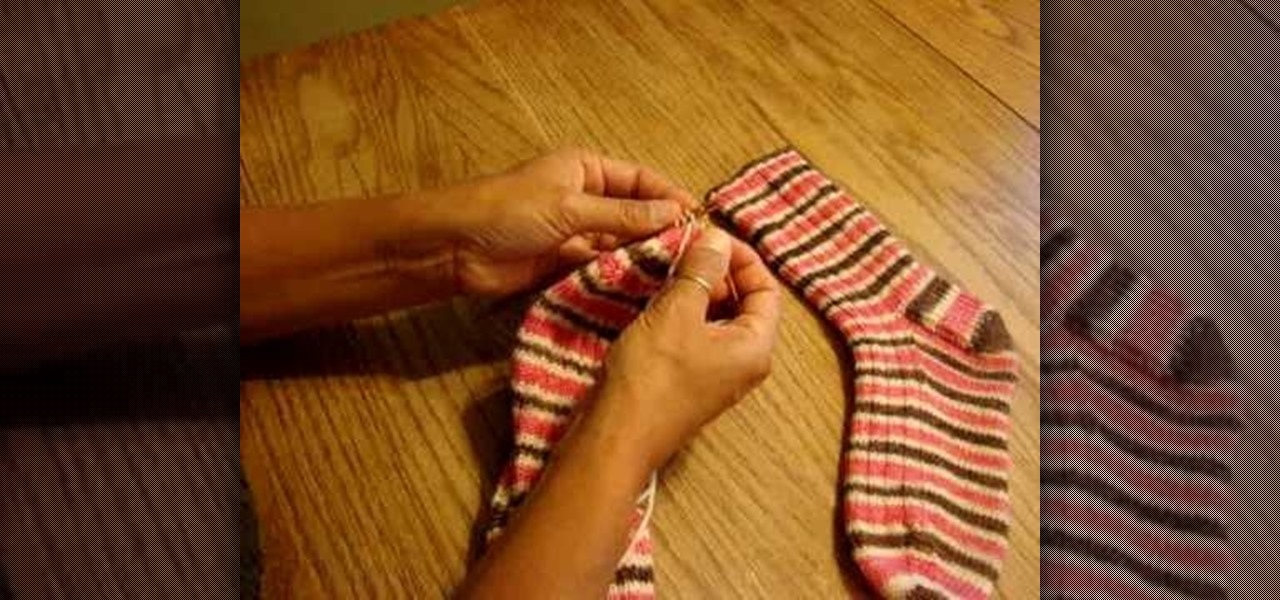 How to Learn the Kitchener Stitch to finish a sock   Knitting & Crochet