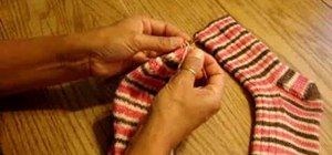 Learn the Kitchener Stitch to finish a sock