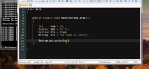 Use variables when writing a program in Java