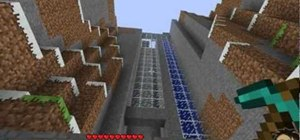 Build a water elevator in Minecraft beta