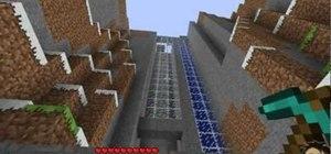 Build a water elevator in Minecraft beta