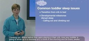 Get infants and toddlers to sleep