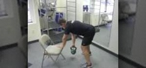 Perform a free standing bent over row exercise to firm arms