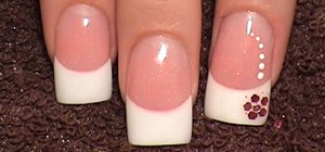 Create pink and white acrylic nails