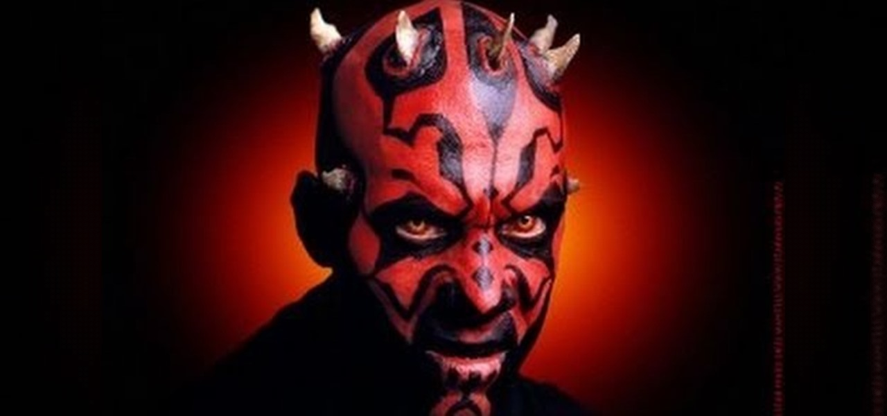 how to create a star wars darth maul makeup look for halloween makeup wonderhowto. Black Bedroom Furniture Sets. Home Design Ideas