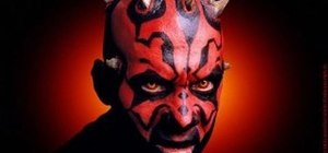 "Create a ""Star Wars"" Darth Maul makeup look for Halloween"