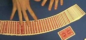 Perform a three card prediction card trick
