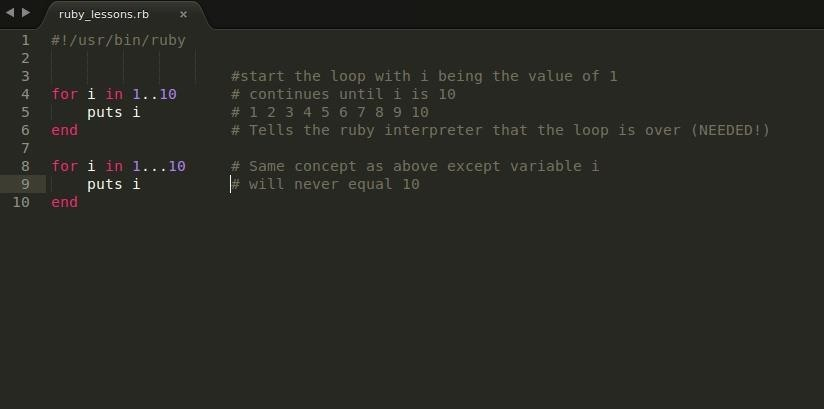 Basics of Ruby: Part Two (Loops)